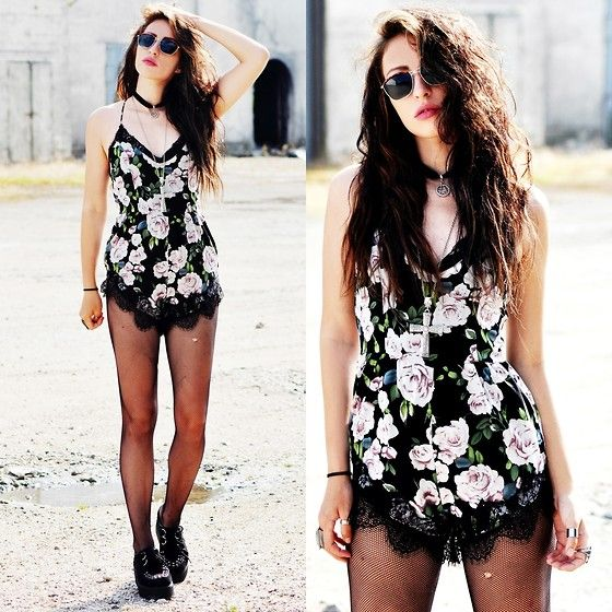 Killy Nicole - Missguided Playsuit, Hellaholics Necklace - TOMORROW IS ANOTHER DAY