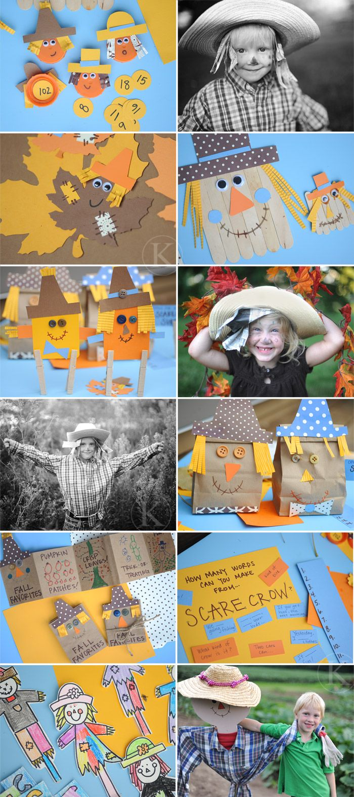 Scarecrow Activities with kids: Holiday, Thanksgiving Crafts, Scarecrow Craft, Fall Crafts, Fall Scarecrow, Fall Fun, Kids Crafts, Fall Thanksgiving, Craft Ideas