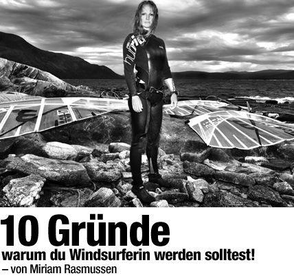 10 Gründe warum du Windsurferin werden solltest