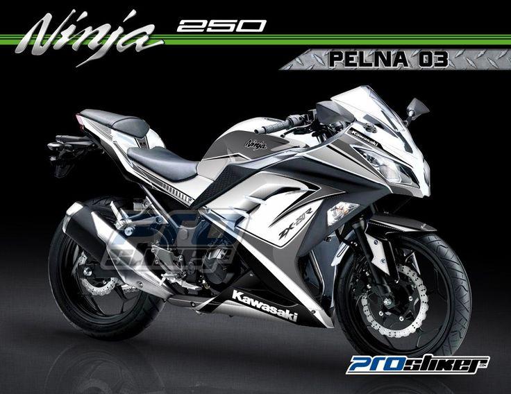 Kawasaki ninja fi 250 warna putih desain stiker pelna 03