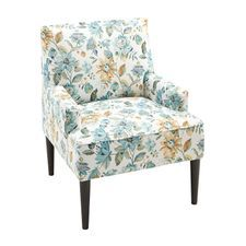 Best Lily Blue Green Floral Chair Floral Accent Chair Accent Chairs Leather Chair With Ottoman 400 x 300