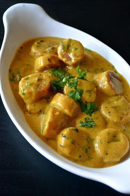 Dishing : Rajasthani Gatta Curry / Gatte Ki Sabji / Gatte Ki Saag / Gatte Nu Saag
