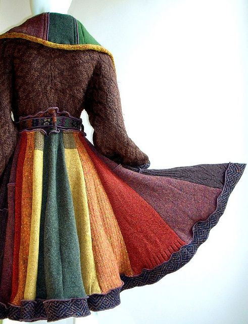 reconstructed sweater coat by   brendaabdullah on Etsy