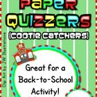 This paper quizzer (cootie catcher) is a fun activity for students to get to know each other at the beginning or any time of the year. Color and B&...