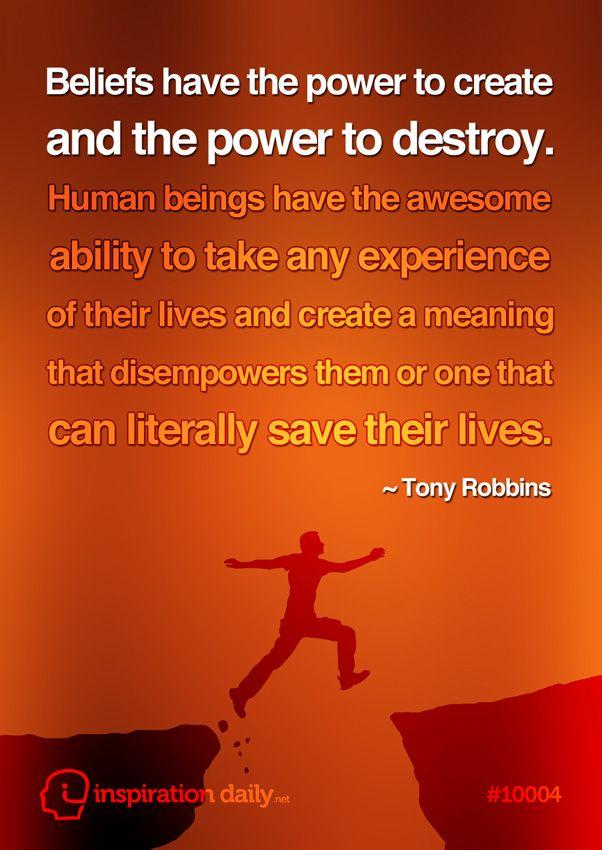 Great quote on beliefs by Tony Robbins www.lovehealsus.net