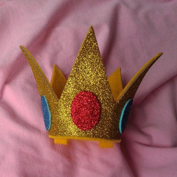 Princess Peach Sparkle crown princess toadstool by SaintSallys