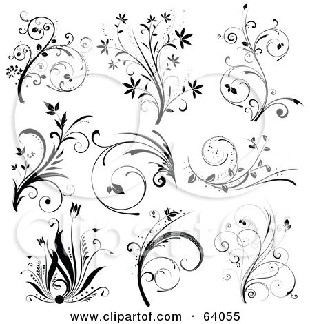cute scroll stencil designs. scroll pattern  Collage Of Nine Black And White Floral Scroll Design 102 best designs images on Pinterest Arabesque Ornaments