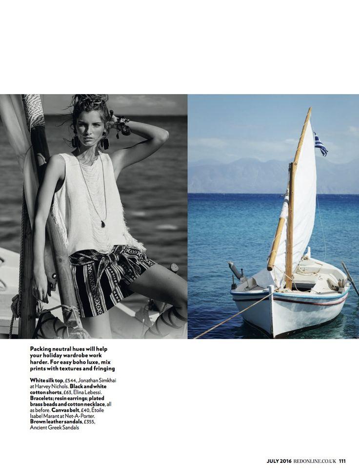 #ElinaLebessi shorts in RED Magazine