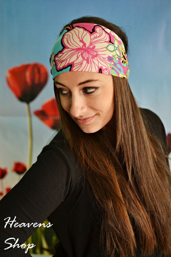 Jersey Turban Hair Wrap Multi Colored Turban Pink by HeavensShop, €13.50