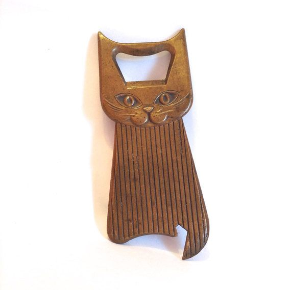 Art deco brass cat bottle opener £47.20