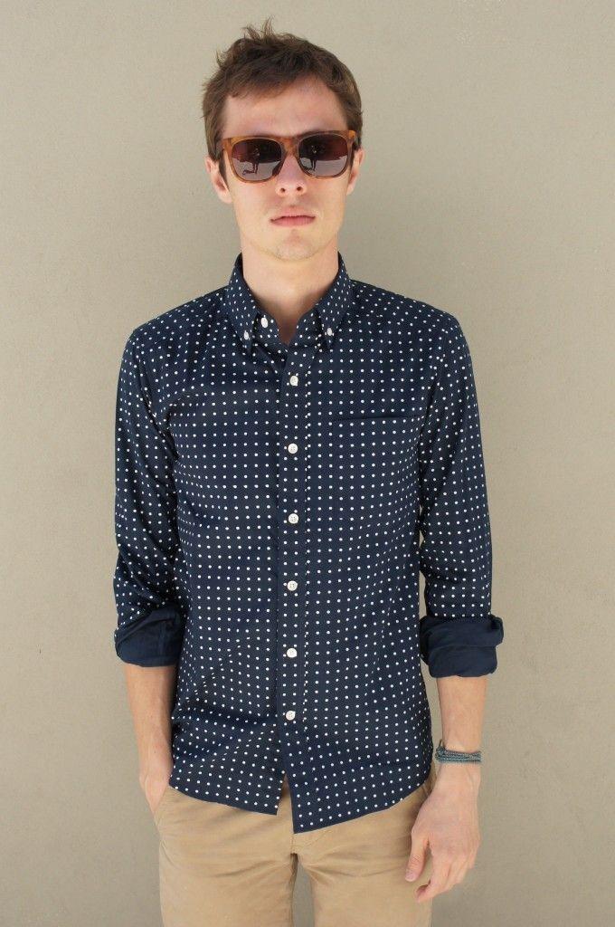 Polka dot shirt + chinos