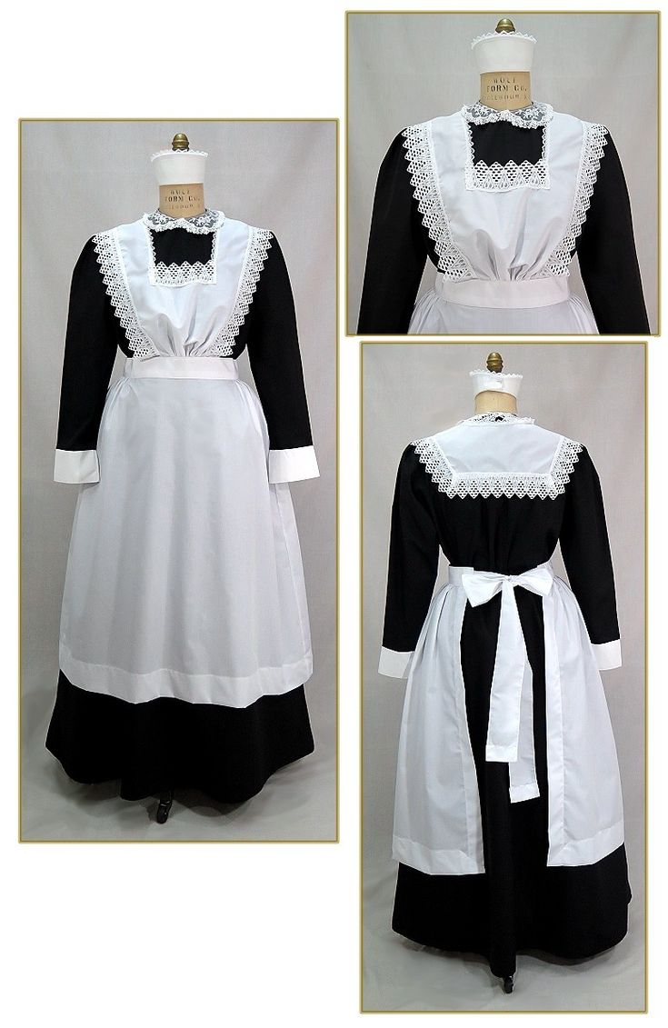 White apron glasgow - Edwardian Bib Maid Apron Style 0451