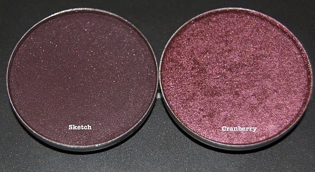 Cranberry and Sketch | MAC eyeshadows. So pretty together.