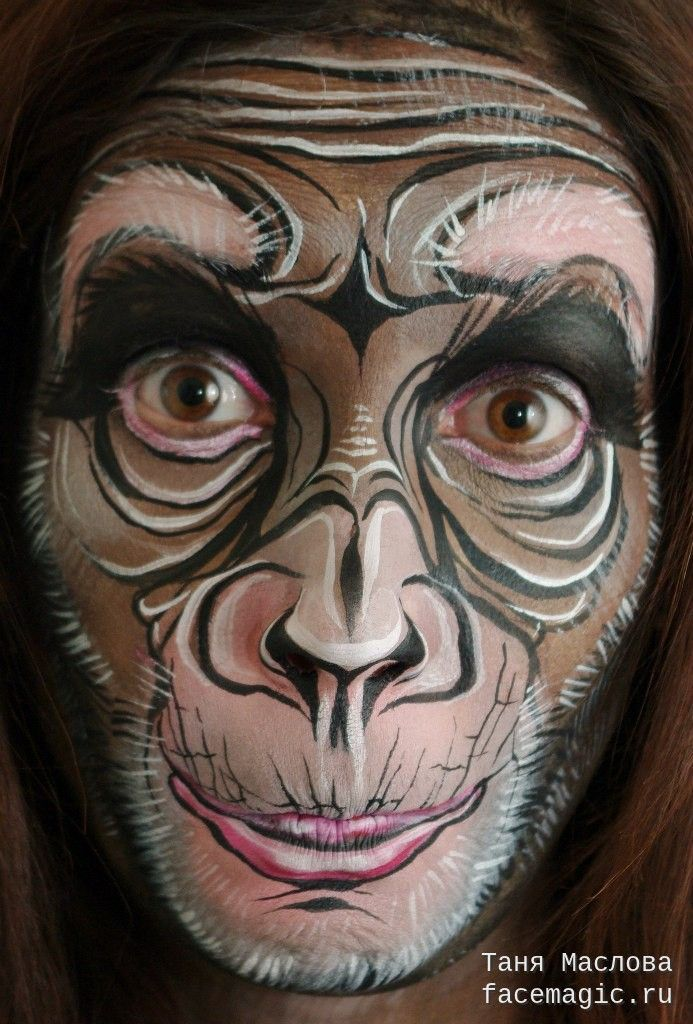 Monkey. Face paint by Tanya Maslova.