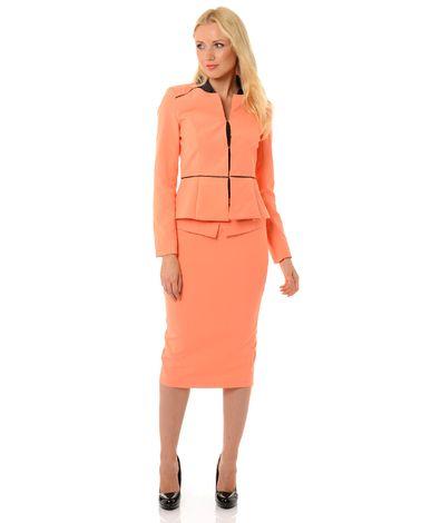 Tailleur femme pantalon et veste désirée saumon