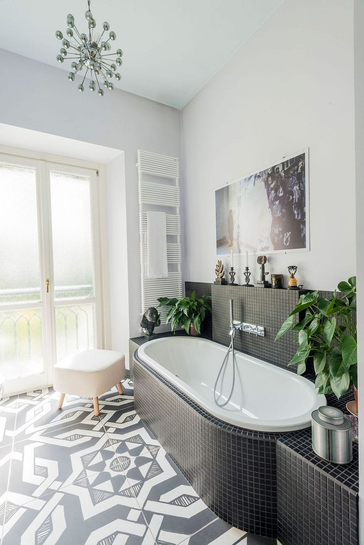 262 best interior design bathroom images on pinterest design black and white small bathroom idea