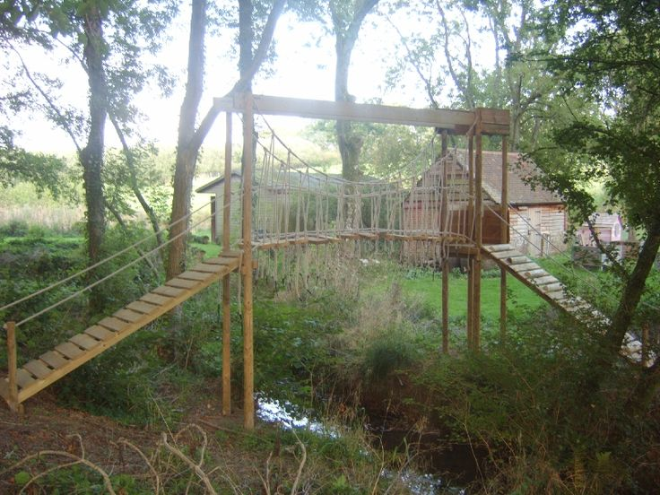 1000 images about kids swing set ideas on pinterest for Wooden swing set with bridge