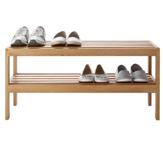 Buy Heart of House Elmley 2 Shelf Shoe Storage Rack - Solid Oak at Argos.co.uk - Your Online Shop for Shoe storage, Storage, Home and garden.