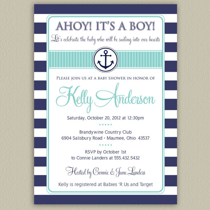 Baby Shower Invitations: Nautical Baby Shower Invitations Aknwsd6h,  Impressive Nautical Baby Shower Invitations Design