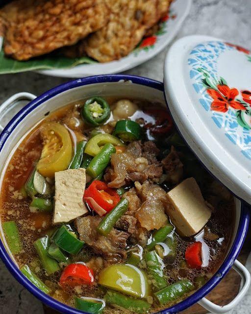 Asem Asem Buncis Daging Campur Campur Segar Nian Mak Resep Spesial Di 2021 Makanan Masakan Rebusan