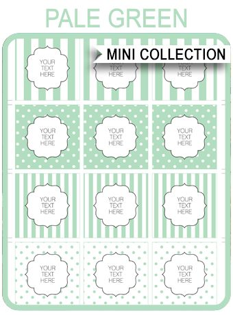 Free Baby Shower Printables – green stripes and polkadots via SIMONEmadeit.com