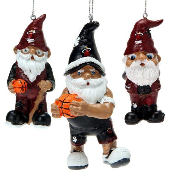 Miami Heat Resin Gnome 3-Pack Ornament Set - $8.99