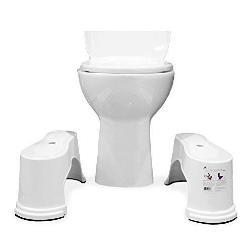 Ultraportable Toilet stool - Available in White Stackable 7 inch - 7.5 inch Module (One Pair)