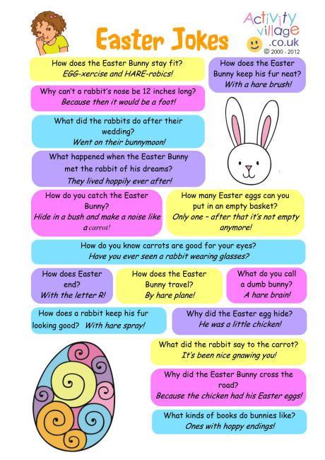 Easter jokes FREE printable