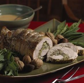 Spiral Stuffed Turkey Breast with Cider Gravy - Plainville Farms