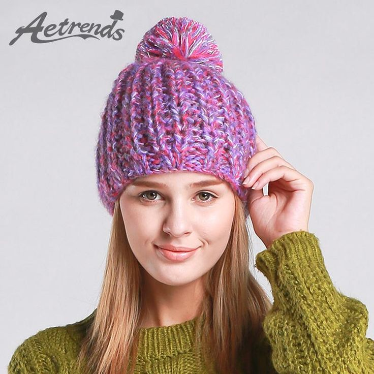 Women Winter Cap Colorful Beanie Hats With Ribbon Ball Z-3082 $12.97 => Save up to 60% and Free Shipping => Order Now! #fashion #woman #shop #diy www.scarfonline.n...