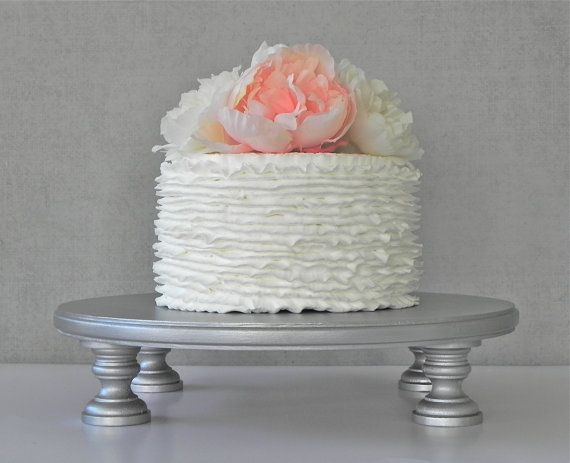 Silver Cake Stand 22 Cupcake Silver Cake by EIsabellaDesigns