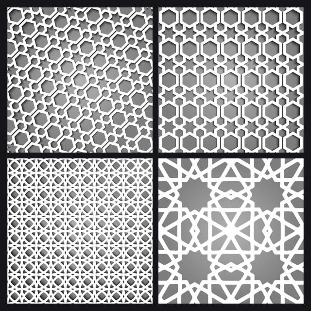 Islamic Moroccan Seamless Pattern And Background Set Arabic Geometric Ornament 3d Abstract Arab Png And Vector With Transparent Background For Free Download