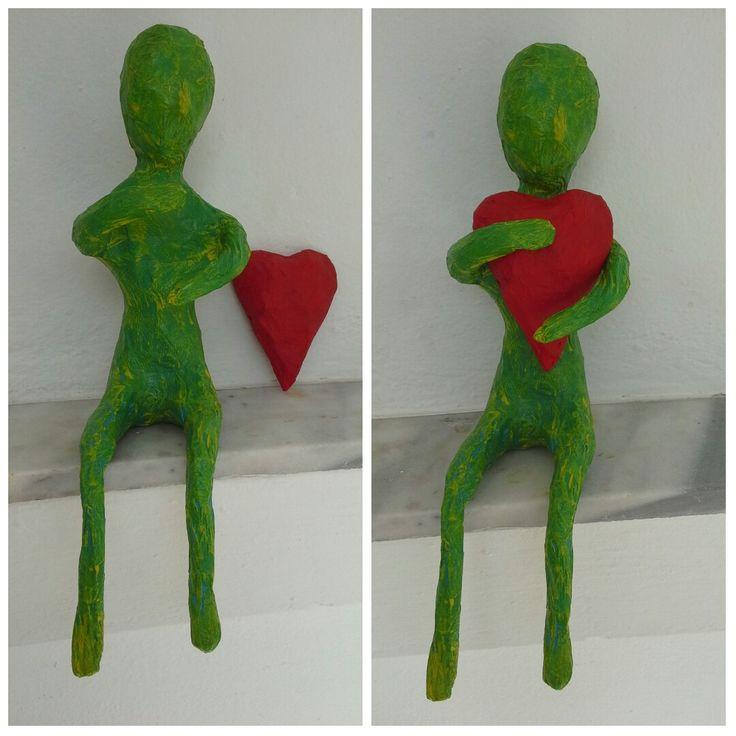 #mixedmedia #hugs #hearts #sculpture