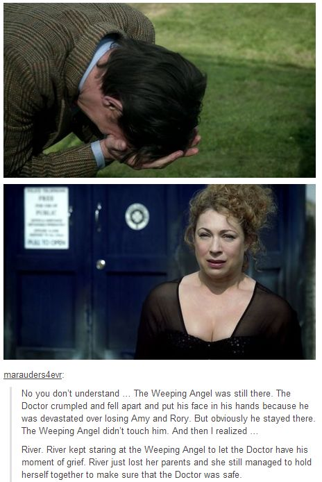 The weeping angel was STILL THERE. BEING A WHOVIAN IS LIKE STABBING YOURSELF IN THE HEART MULTIPLE TIMES AND STILL ASKING FOR MORE
