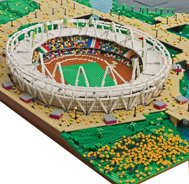 The Olympic Stadium. Taken from Brick City: Lego for Grown Ups by Warren Elsmore, published by Mitchell Beazley / Octopus Books.