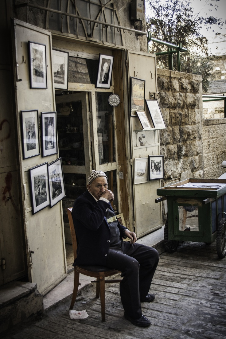 Shop owner in Jerusalem