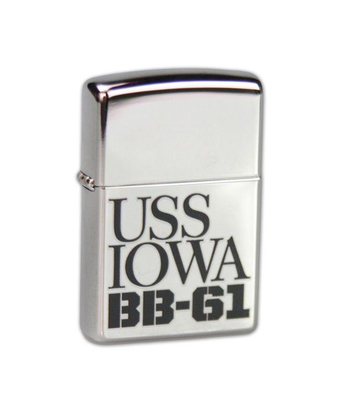 USS Iowa Online Store | USS Iowa Silver Zippo Lighter USS Iowa Online Store |
