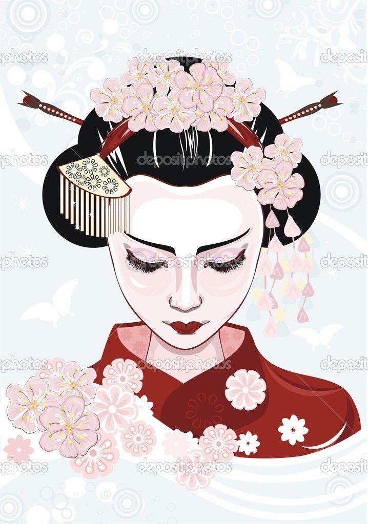 Adesivo mulher japonesa bonita - China • Adesivo da Parede • br.pixersize.com