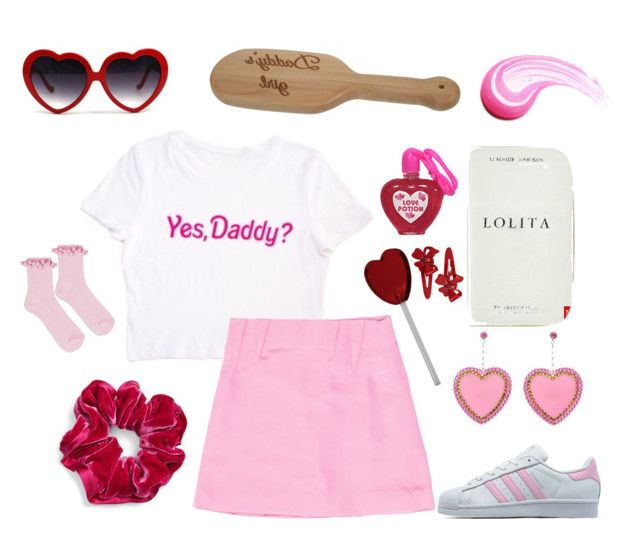 do i look cute daddy? by daddybratty on Polyvore featuring Prabal Gurung, Topshop, adidas Originals, Tarina Tarantino, L. Erickson and Mimco