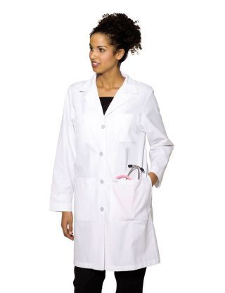 Landau 3153 Labcoat With Four Button Closure #Landau #Labcoat