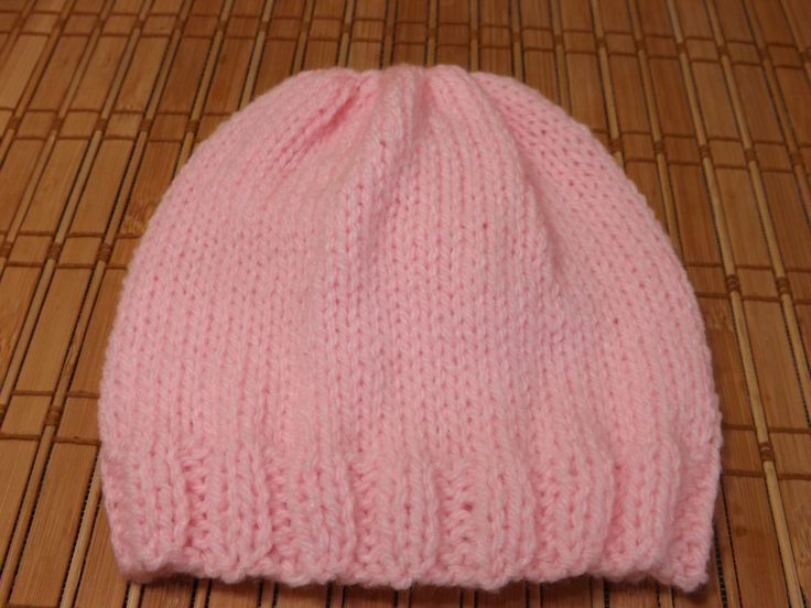 Loom Knitting Baby Hat Patterns : How to knit a new born baby s hat for beginners