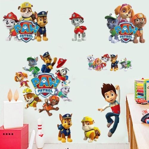 Paw Patrol Wall Sticker 3d Boys Girls Bedroom Vinyl Art Decal Stickers