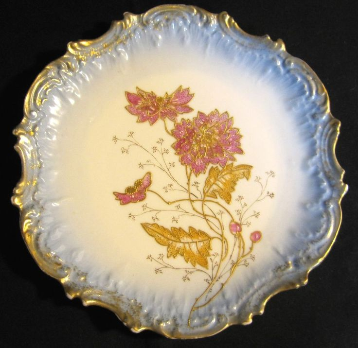 Antique Victorian Ornate Scallop Coiffe Limoges Display Plate Charger 1891-1914 #CoiffeLimoges