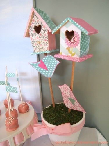 sew bird house