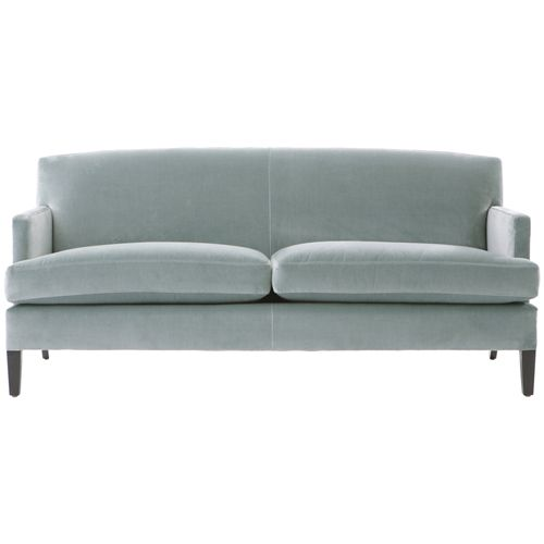 Light Blue Velvet Sofa Hereo