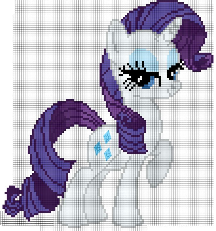 My Little Pony Rarity Cross Stitch Pattern