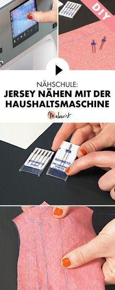 Jersey mit der Haushaltsnähmaschine nähen lernen kann ganz einfach sein - Step by Step erklärt im Video-Kurs via Makerist.de
