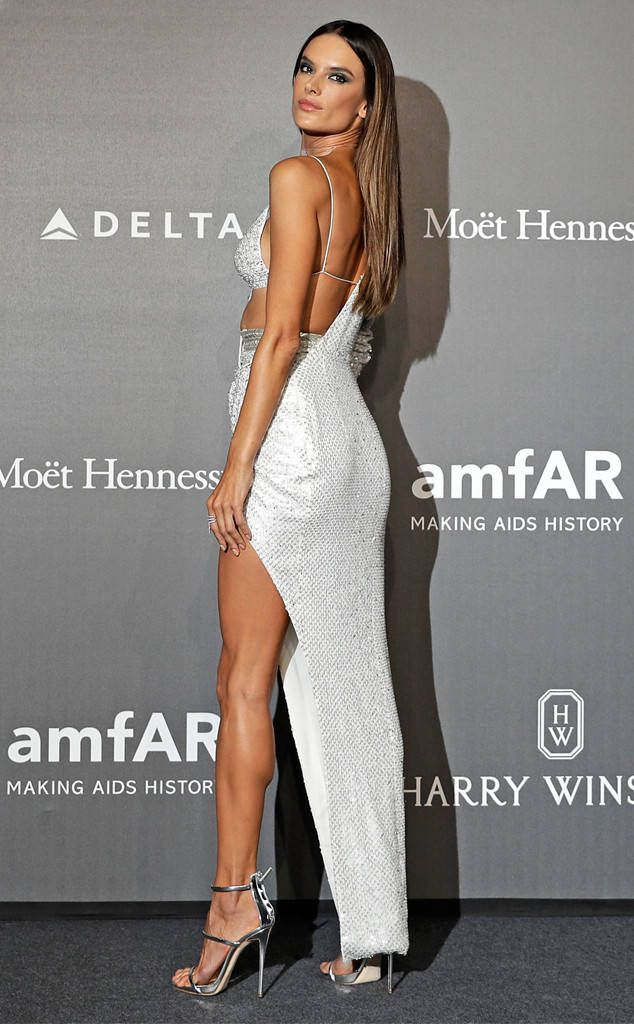 Alessandra Ambrosio from The Big Picture: Today's Hot Photos  Legs for days! The Brazilian supermodel slays the amfAR Gala red carpet in Milan with this gorgeous gown.