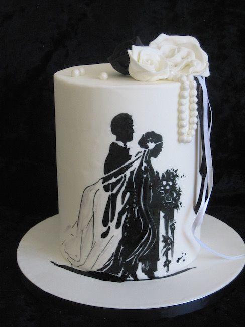Hand-painted Gatsby wedding