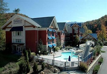This is a beautiful picture of the Fairfield Inn and Suites in Gatlinburg. A great hotel to stay in and can easily provide you with the creature comforts you want to have. #Gatlinburg
